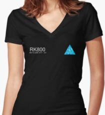 Connor RK800 Detroit Become Human  Women's Fitted V-Neck T-Shirt