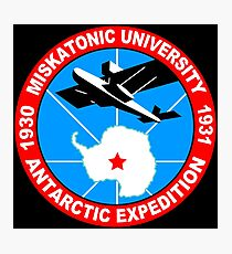 Miskatonic university antarctic expedition Funny Geek Nerd Photographic Print