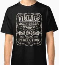 Adam Gussow's Vintage Blues Harmonica Player Made in 1949 Classic T-Shirt