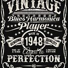 Adam Gussow's Vintage Blues Harmonica Player Made in 1948 by HNA Media