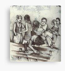 One Saturday Night at The Bolero ( 1994 ) Canvas Print