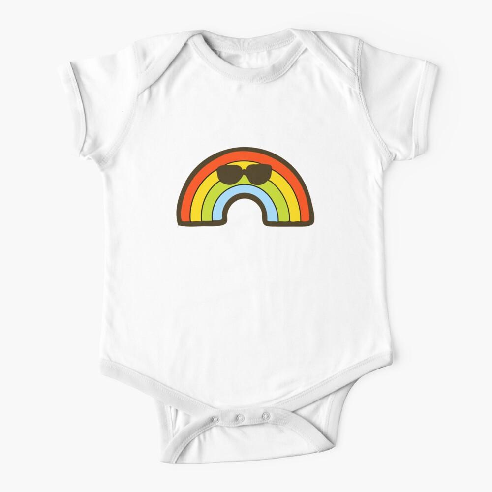 Rainbow Pride Pattern Short Sleeve Baby One-Piece