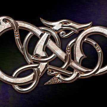 Viking Dragon in metal by chromedreaming