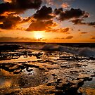 Shelly Beach Sunrise by Jason Hilsdon
