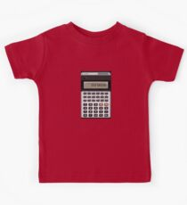 Awesome Fake CASIO Vintage calculator Kids Tee