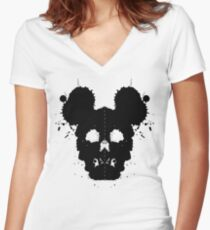 Mickey Maus Women's Fitted V-Neck T-Shirt