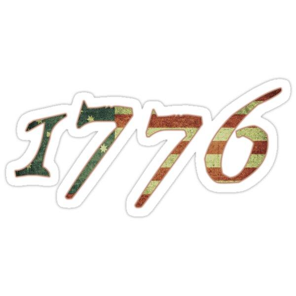 1776 Declaration of Independence US Flag