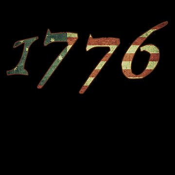 1776 Declaration of Independence US Flag by flippinsg