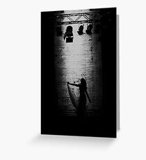 Suspended in Gaffa Greeting Card
