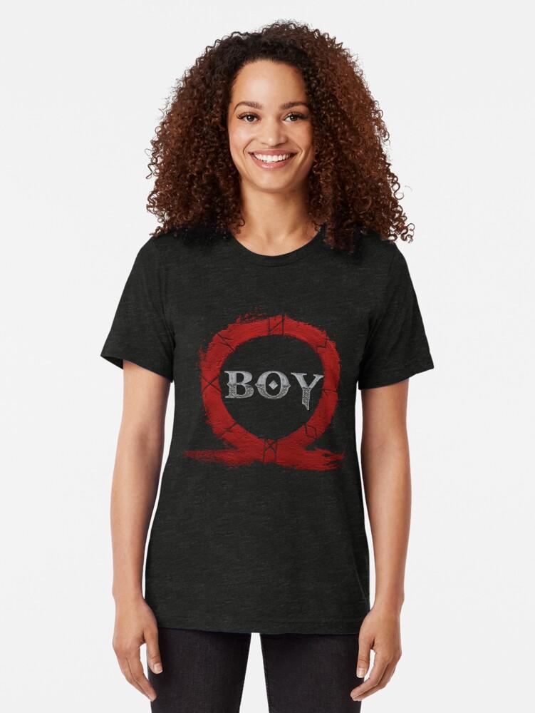 Alternate view of BOY : God of War Tri-blend T-Shirt