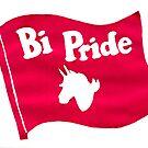Binicorn Bi Pride Flag by Rachel Smith