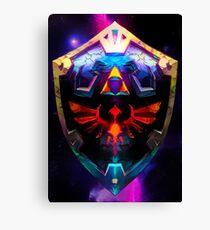 Neon Broken Hylian Shield - Legend of Zelda Canvas Print