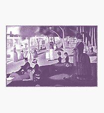 Purple Seurat Photographic Print