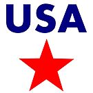 USA Large (Red) Patriotic Star Color-Light by TinyStarAmerica