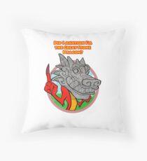 Great Stone Dragon Throw Pillow