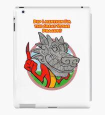 Great Stone Dragon iPad Case/Skin