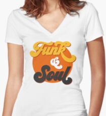 Funk & Soul Women's Fitted V-Neck T-Shirt