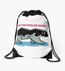 Save the Polarbears Drawstring Bag