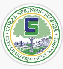 City Seal of Coral Springs, Florida Sticker
