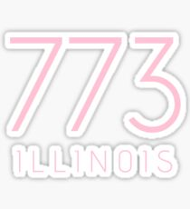 ILLINOIS 773 • ROSE Sticker