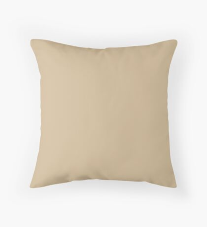 Almond Buff | Pantone Fashion Color | Fall : Winter 2018 | New York and London | Solid Color Throw Pillow