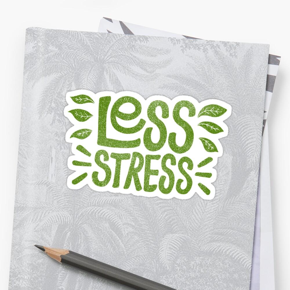 PegatinaMenos estrés Delante