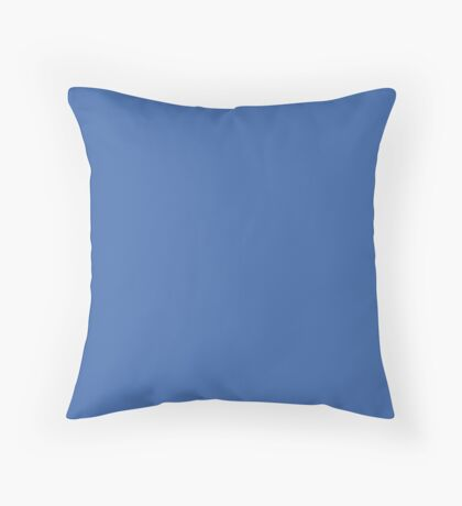 Nebulas Blue | Pantone Fashion Color | Fall : Winter 2018 | New York and London | Solid Color Throw Pillow