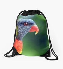 Rainbow Lorikeet Drawstring Bag