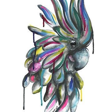 Emma Jones Art - Chester the Cockatoo by emmajonesart
