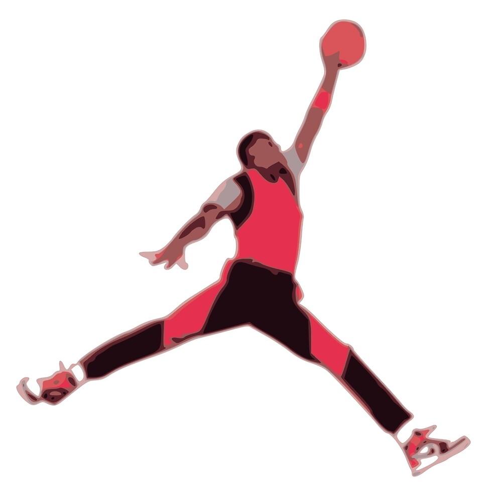 original jordan jumpman logo by 313fire redbubble