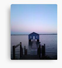 Home Blue Home Canvas Print