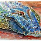 Chinaman Creek Crocodile - Watercolour by Paul Gilbert