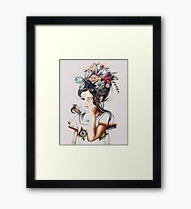 Ethno Flower Girl Framed Print