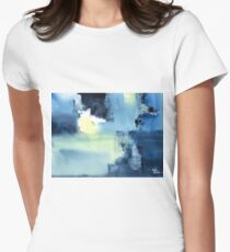 Blue Abstract Women's Fitted T-Shirt