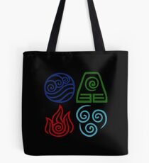 Avatar Four Elements Square Tote Bag