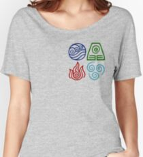 Avatar Four Elements Square Women's Relaxed Fit T-Shirt