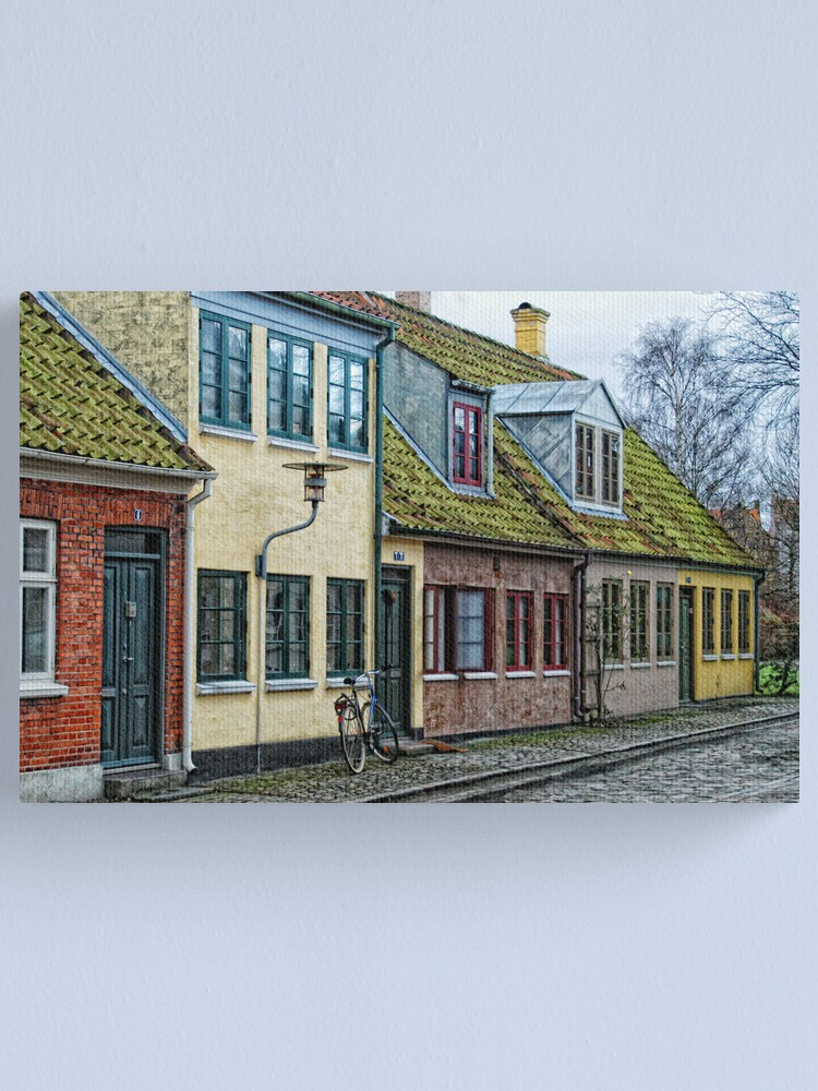 Alternate view of Odense Houses Canvas Print