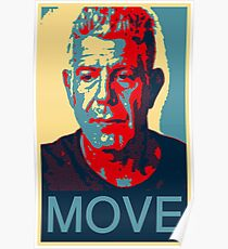 Anthony Bourdain famous chef quote  Poster