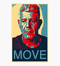 Anthony Bourdain famous chef quote  Photographic Print