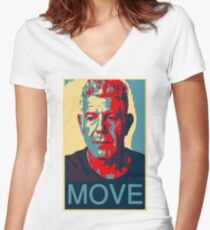 Anthony Bourdain famous chef quote  Women's Fitted V-Neck T-Shirt