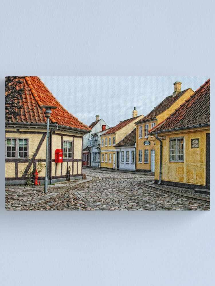 Alternate view of Village of Odense Canvas Print