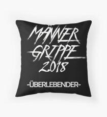 Men flu 2018 survivor Floor Pillow