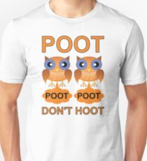 Two Poots not Two Hoots Slim Fit T-Shirt