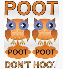 Two Poots not Two Hoots Poster