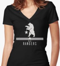 New California Republic Rangers Women's Fitted V-Neck T-Shirt