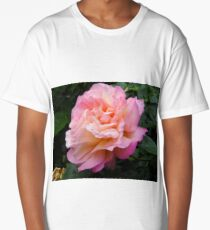 Pink and Peach Rose. Long T-Shirt