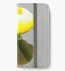 yellow waterlily iPhone Wallet/Case/Skin