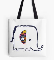 Flower ear elephant Tote Bag