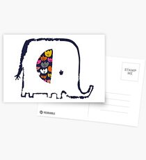 Flower ear elephant Postcards