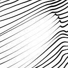 Line art wavy pattern, vector illustration by hebstreit